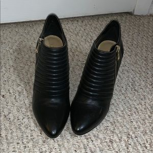 Ann Taylor Moto Leather Ankle Boot sz 7.5